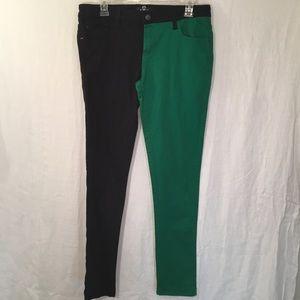 Royal Bones By Daang Green/Black Skinny Jeans 11
